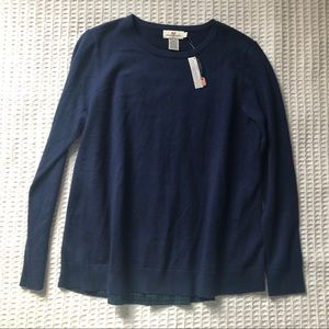 NWT Vineyard Vines Navy Sweater Green Gingham S